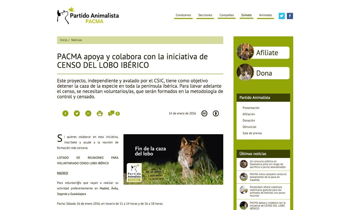 """El propio PACMA asegura que se trata de un estudio """"independiente"""" """"que tiene como objetivo prohibir la caza""""."""