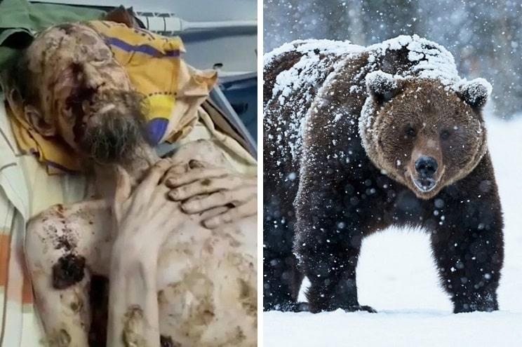 Revelan la verdadera historia del hombre 'cazado' por un oso