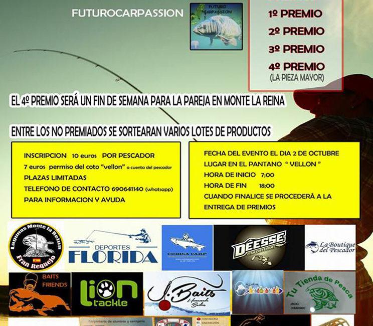 Evento de pesca de Futurocarpassion en el Pantano del Vellón