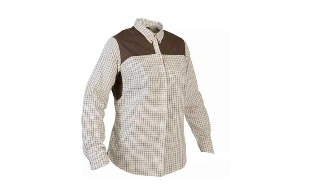 Camisa de cuadros Solognac 500 mujer