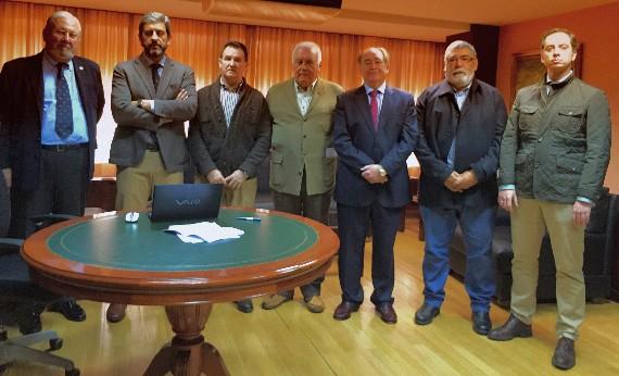 Los presidentes de las ocho federaciones firmantes.