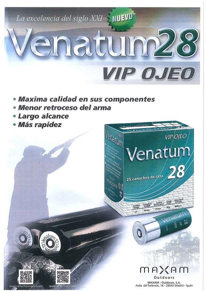 MAXAM lanza al mercado el nuevo cartucho Venatum 28 VIP Ojeo