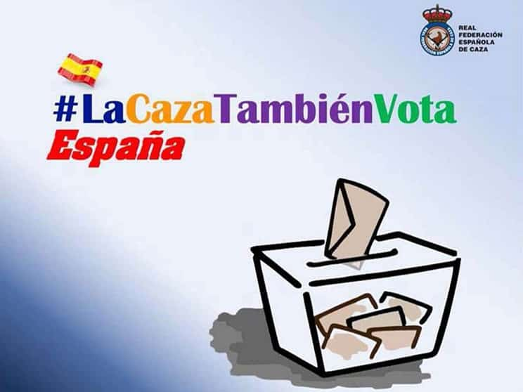La RFEC reactiva la campaña #LaCazaTambiénVota de cara al 10-N