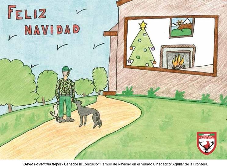 Un niño de 9 años gana el concurso de dibujo que ilustrará la postal de Navidad de la FAC