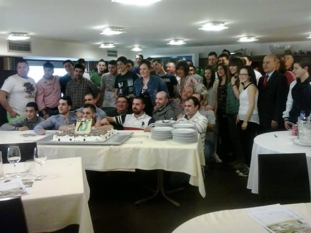 Integrantes de Jóvenes por la Caza Galicia durante el encuentro del pasado domingo.