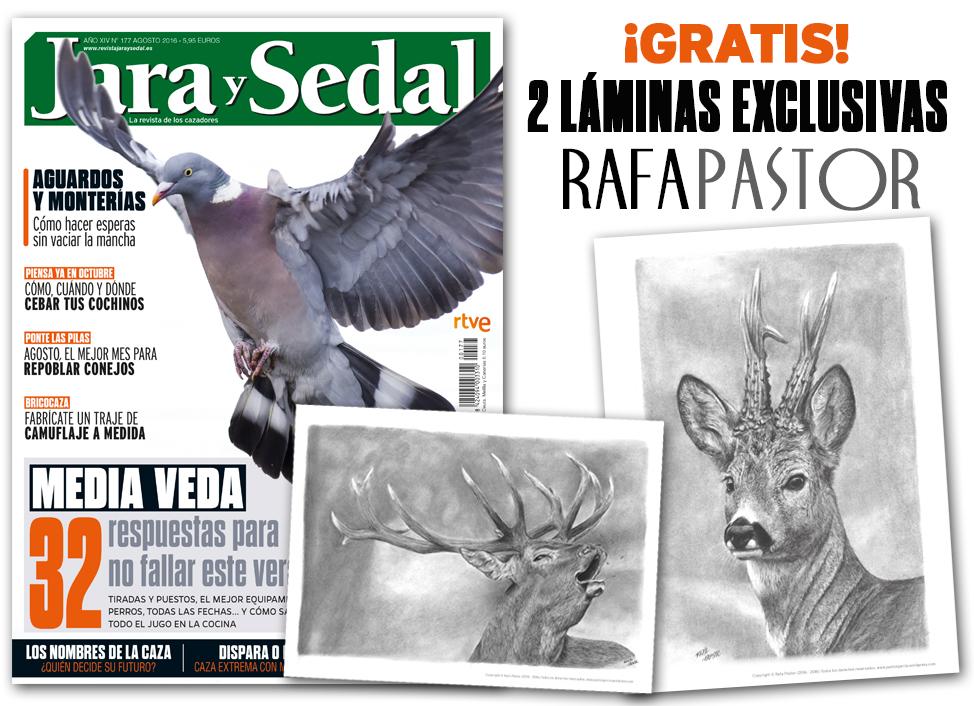 En agosto gratis con Jara y Sedal... ¡2 exclusivas láminas de caza!