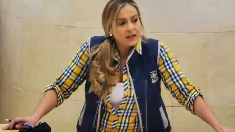 Marta García, en el Parlamento cántabro. © Ciudadanos