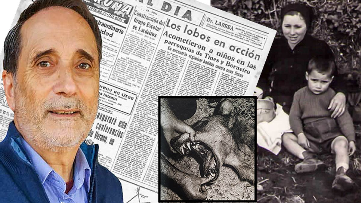 Manuel Suárez fue víctima de un ataque de lobo en Galicia siendo niño. Jara y Sedal ha hablado con él y recogido su testimonio.