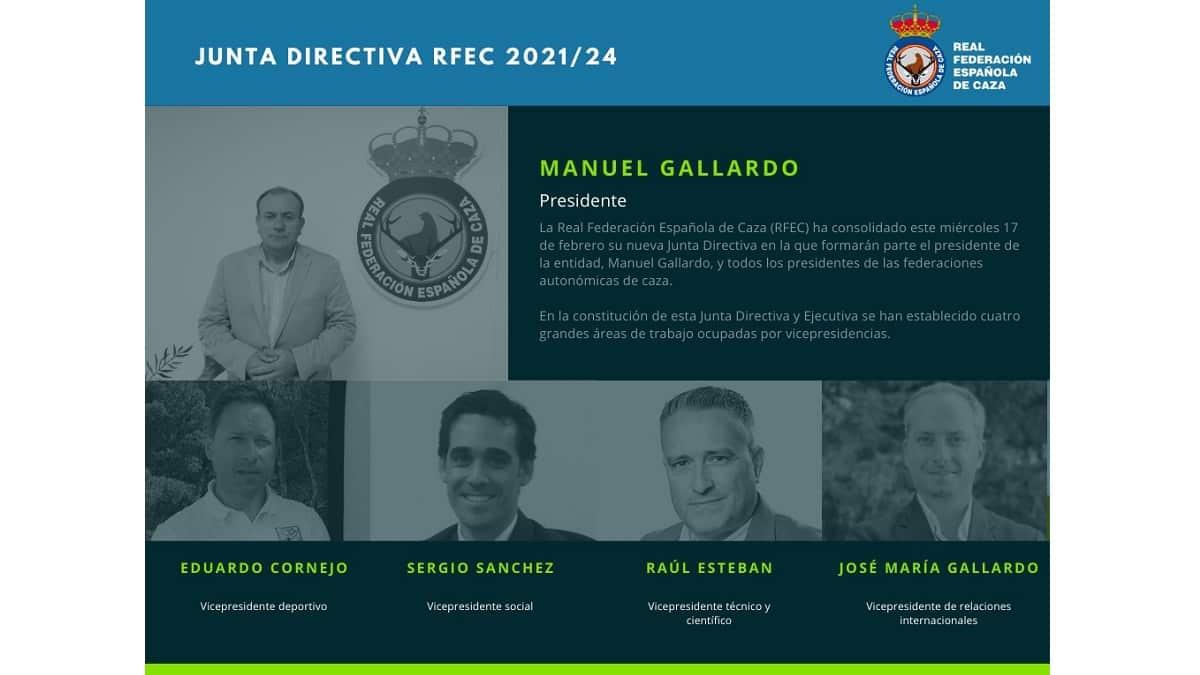 La RFEC renueva su Junta Directiva con el reto de defender la actividad cinegética en todos sus ámbitos