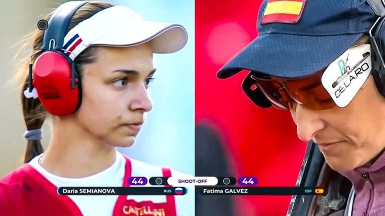 Fátima Gálvez y Semianova en la final.