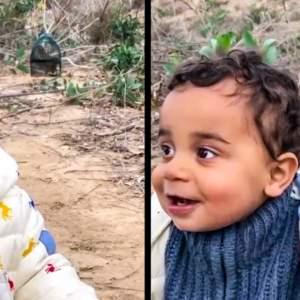 Un bebé de 11 meses comienza a imitar el canto de una perdiz roja para sorpresa de su padre cazador