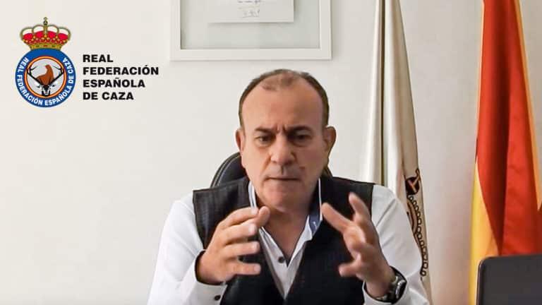 Manuel Gallardo, presidente de la RFEC, durante el vídeo. © YouTube