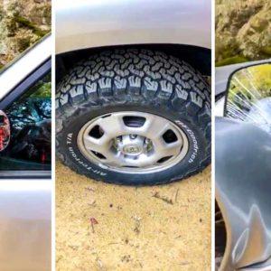 Varios cazadores muestran sus coches con destrozos tras una batida: «Estos son los civilizados de los ecologistas»