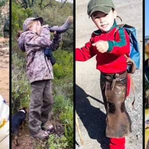 Cuatro pequeños cazadores que demuestran que el futuro de la caza está asegurado