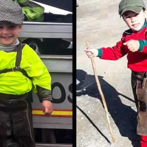Manuel Domínguez, el niño rehalero que anima a sus perros de caza y conquista las redes con solo cuatro años