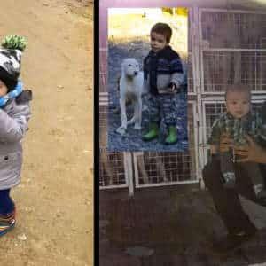 Jorge, el niño rehalero de tres años apasionado por la caza