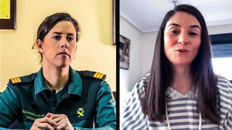 Ana Prieto, portavoz del SEPRONA y Laura Duarte, presidenta de PACMA. © Facebook y Ángel Vidal