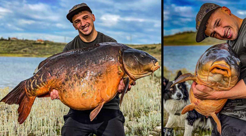 Pesca una carpa royal récord de 28 kilos en Orellana: «Era más vieja que yo»