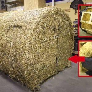 Así se fabrica un puesto de caza que simula ser un rulo de paja: ideal para jabalí o paloma torcaz