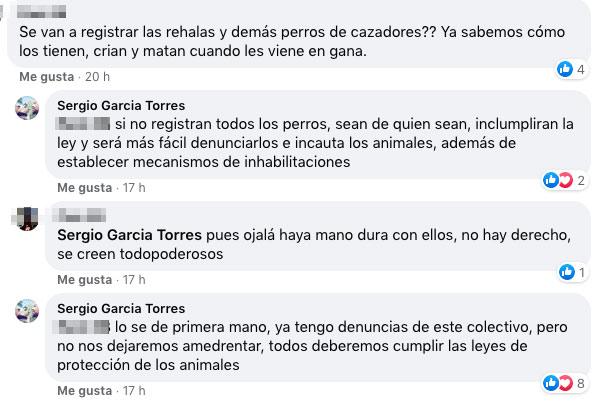 Respuestas de Sergio García Torres. © Facebook