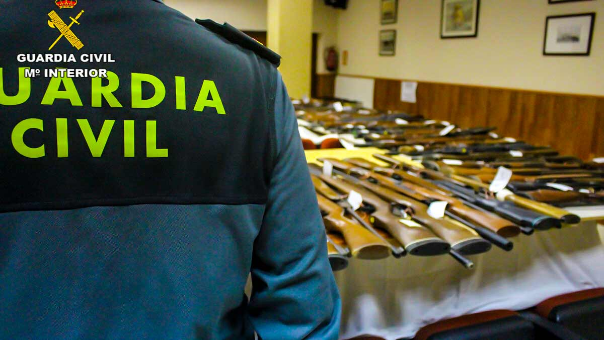 La Guardia Civil subastará 525 armas de caza y tiro en Ciudad Real