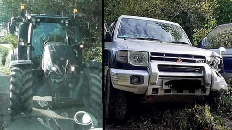 tractor agricultor animalistas