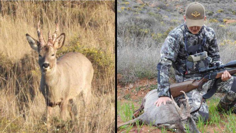 Un joven de 16 años caza un enorme corzo tras fallarlo el primer día de temporada