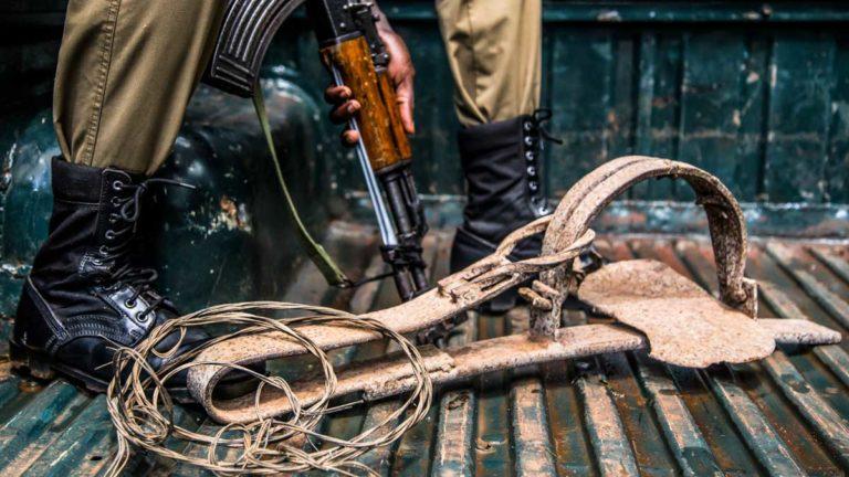 Ak-57, lazos y cepos: tres armas usadas por los furtivos en África. ©Shutterstock