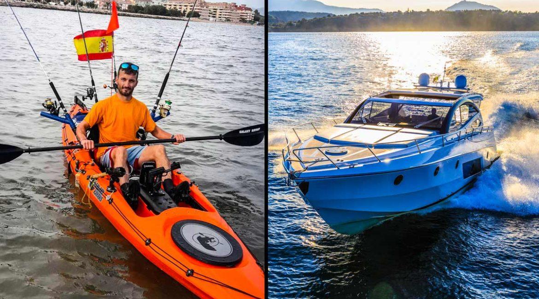 Sobrevive a la embestida de una lancha mientras pescaba en kayak: «Me cortó las líneas y se llevó una caña»