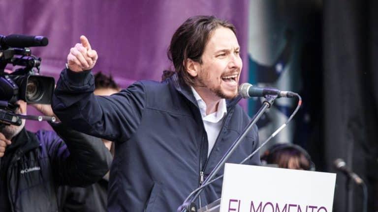 Pablo Iglesias, durante un mitin político.