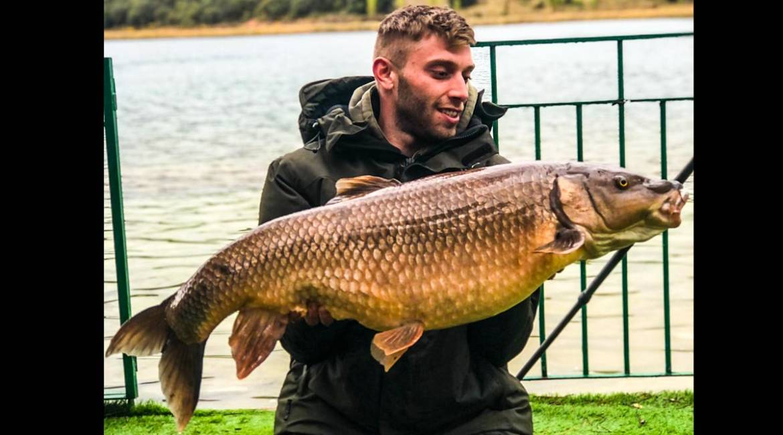 Pesca uno de los barbos más grandes de España en Ciudad Real: 15,3 kilos de peso