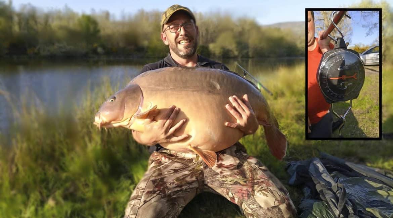 Confirmado: esta carpa pesó 38 kilos y es una de las más grandes de España
