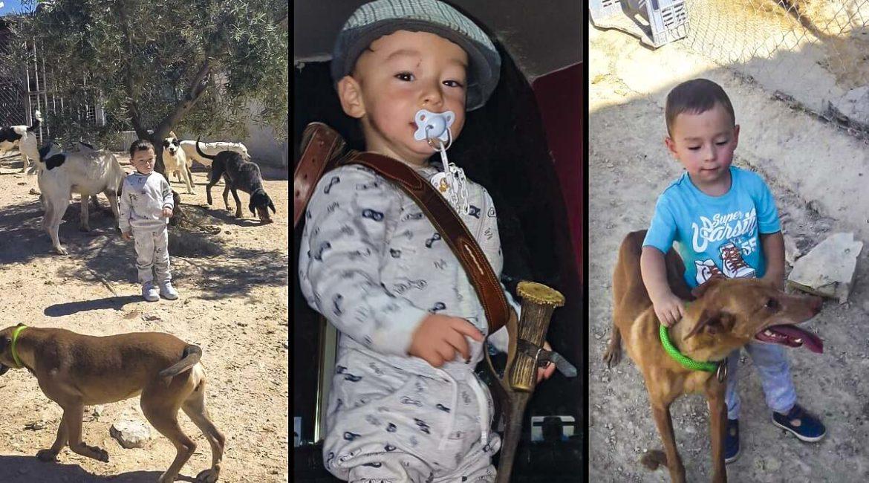 Darío, el niño de tres años que nació rehalero