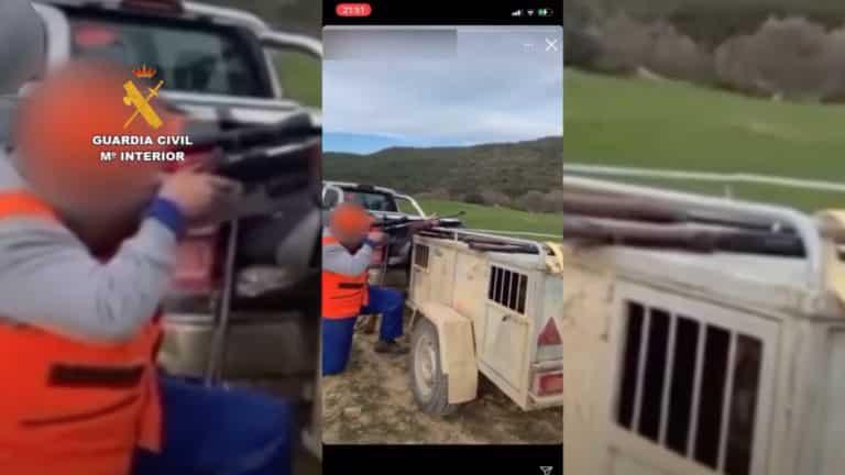Tres momentos del vídeo. © Guardia Civil