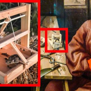 Fabrica una trampa para cazar ratones que aparecía en un cuadro de 1427 y la hace funcionar