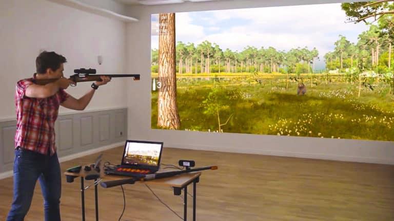 Clases de caza con simulador en Suecia.