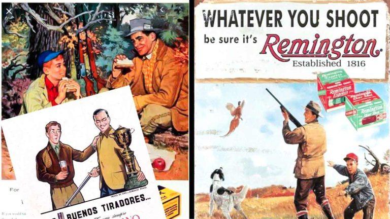 Tres antiguos anuncios de caza.