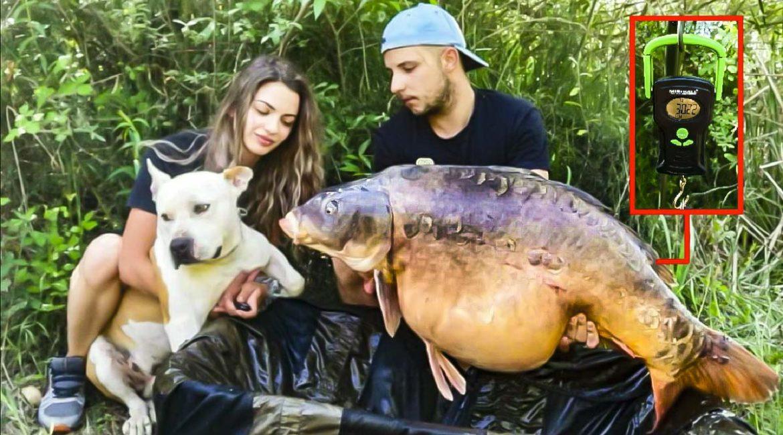 Pesca una enorme carpa más grande que su perro con un pequeño anzuelo del ocho
