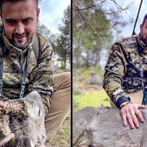 Falla un rarísimo corzo, lo caza tres días después y dedica esta carta al animal