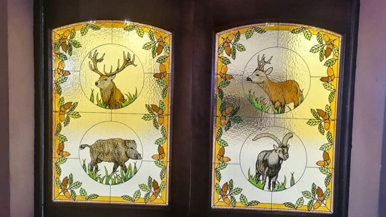 vidrieras caza