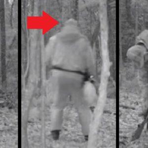 Un explosivo alcanza a un furtivo y esta cámara trampa lo graba