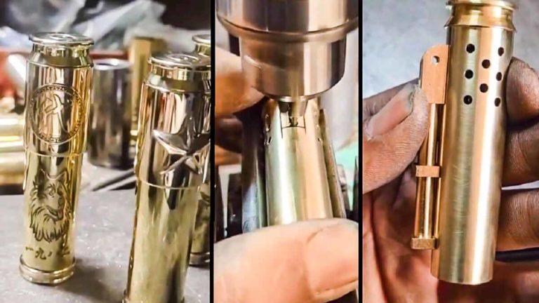Tres momentos del montaje casero del mechero. © Facebook