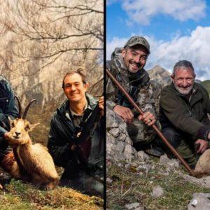 Padre, hijo y guarda repiten la misma foto de caza 20 años después