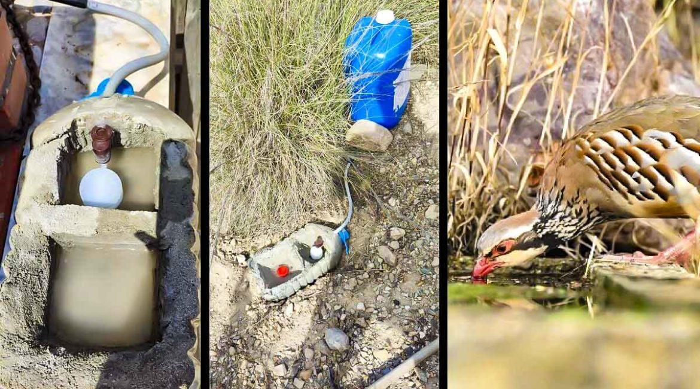 Un cazador muestra cómo hacer ingeniosos bebederos caseros para caza menor por cinco euros