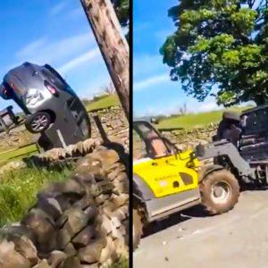 Varios urbanitas aparcan en la finca de un agricultor y este se toma la justicia por su mano