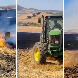 Cazadores de un pueblo de Málaga sofocan un incendio antes de que lleguen los bomberos