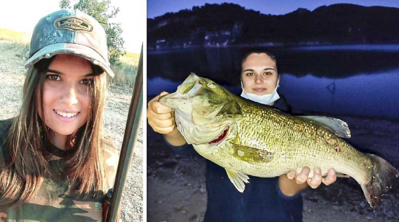 Esta joven pesca su primer black bass (de 3,2 kilos) en Guadalajara: «Ni me lo creía»