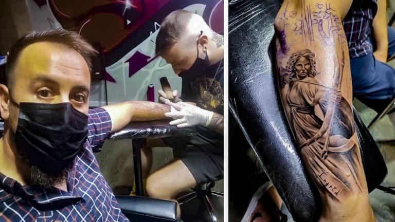 cazador tatuaje diosa Artemisa