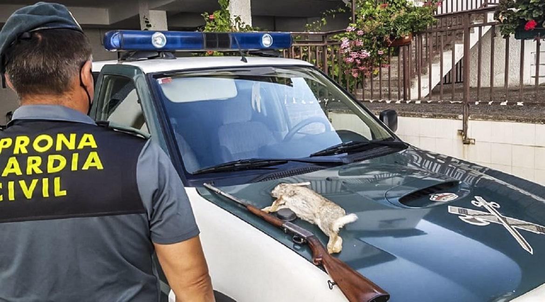 Dispara a un conejo desde el coche con un .22 y el Seprona lo pilla
