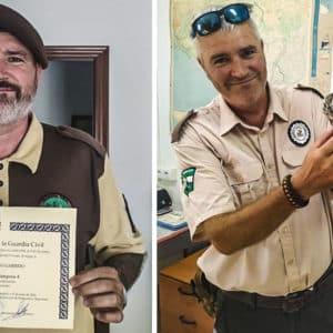 El guarda del coto de caza de Moguer es condecorado por su lucha contra el furtivismo